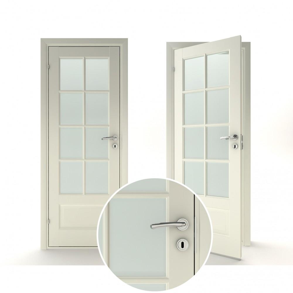 baltos spalvos vidaus medinės durys skandinaviško dizaino, kokybiškos