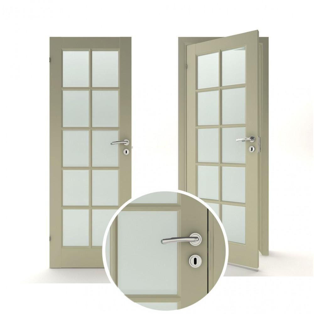 pilkos spalvos vidaus medinės durys skandinaviško dizaino, Stakta 92mm