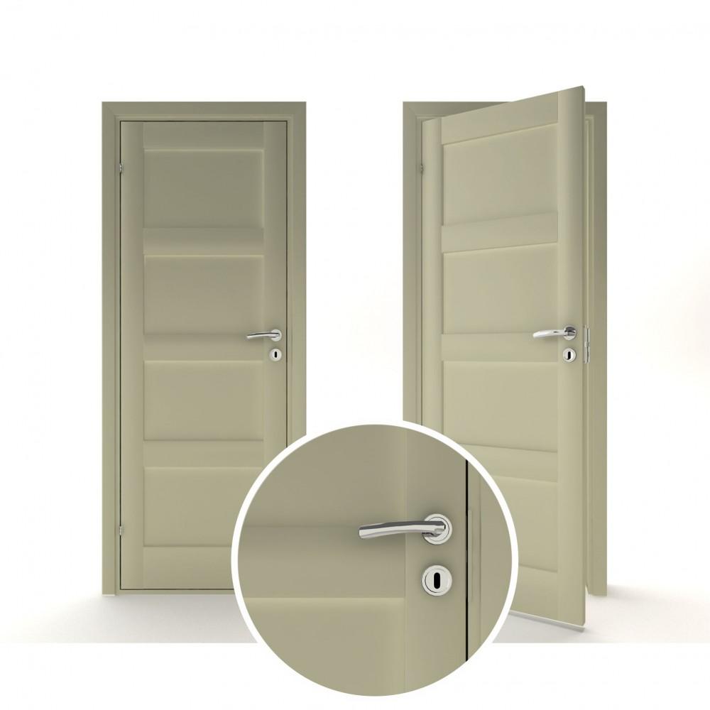 tamsiai pilkos spalvos vidaus medinės durys skandinaviško dizaino, Stakta 92mm