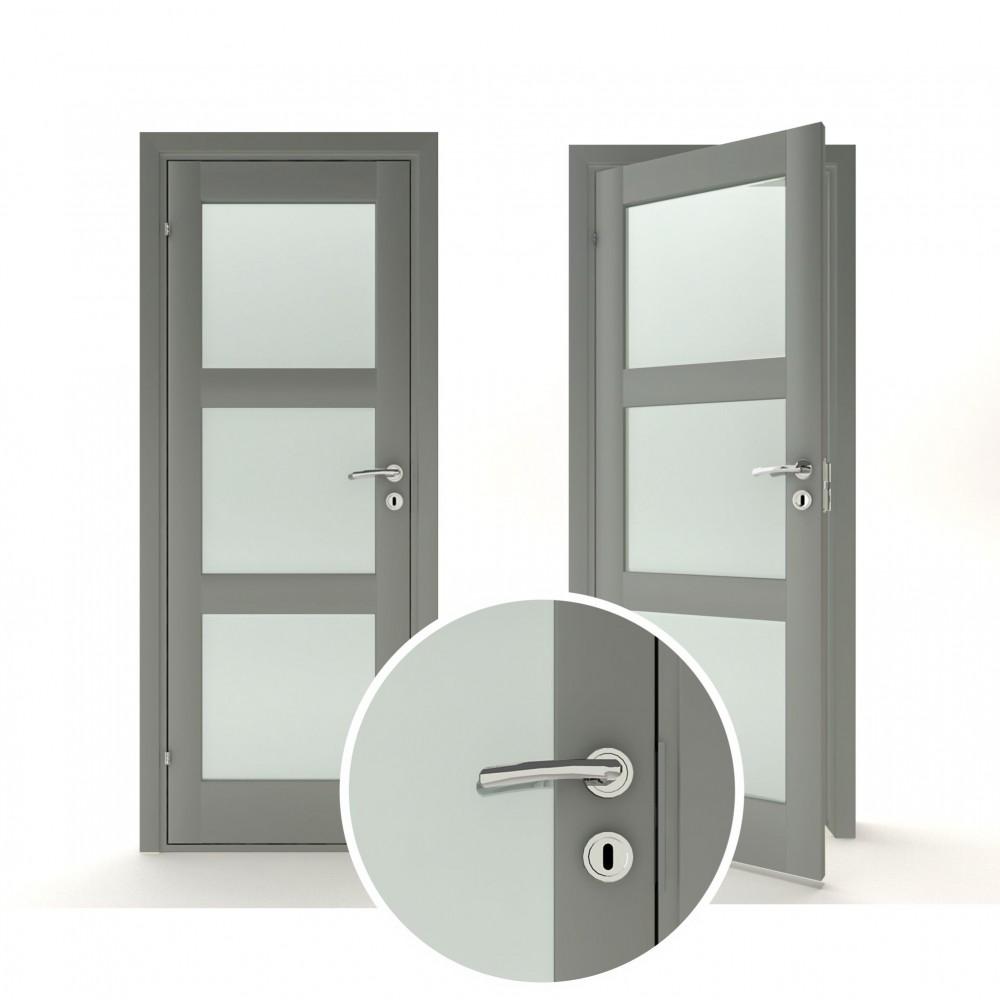 juodos spalvos vidaus medinės durys skandinaviško dizaino, 2050 x 2100