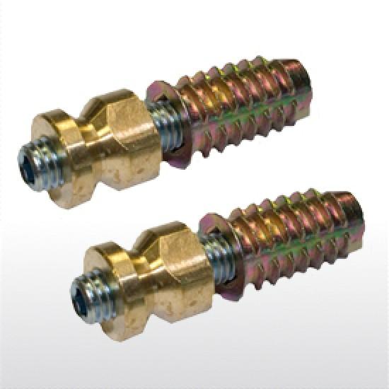 Montavimo varžtai vienpusiai medžiui. GreenteQ  kodas 2.3096 - 7.44eur. PVC lauko durų rankenos, www.doorshop.lt