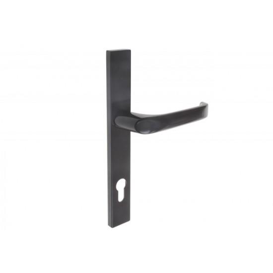 Lauko durų rankena. Nulenkiama 02, L92 8 130 Ruda - 16.53eur. PVC lauko durų rankenos, www.doorshop.lt