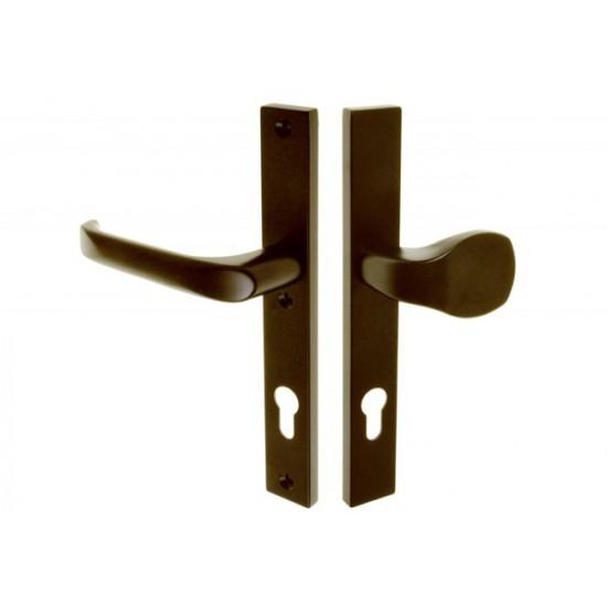 Lauko durų rankena. Traukiama-lenkiama. L-92 8 130 Kairė Ruda - 16.53eur. PVC lauko durų rankenos, www.doorshop.lt