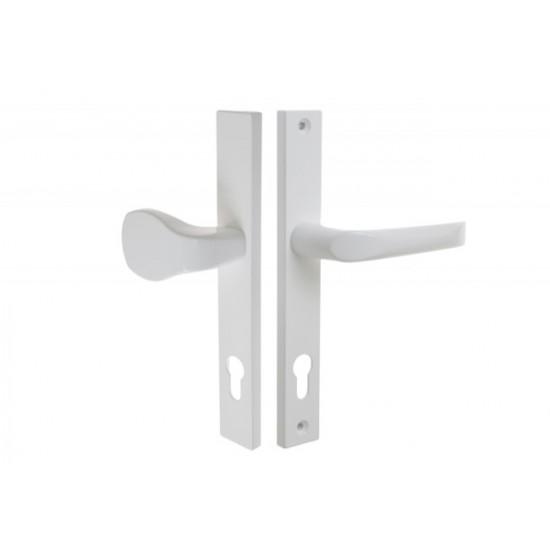 Lauko durų rankena. Traukiama-lenkiama. L-92 8 130 Dešinė Matinis chromas - 16.53eur. PVC lauko durų rankenos, www.doorshop.lt