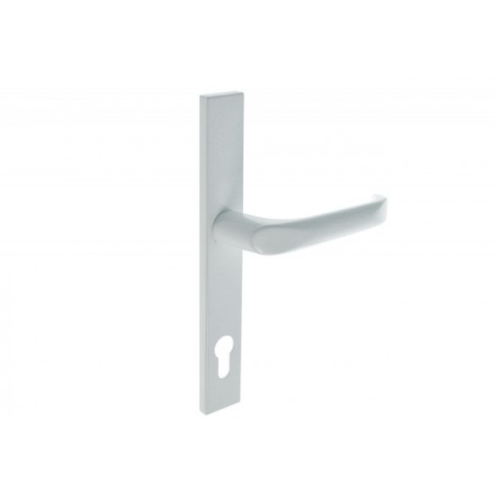 Lauko durų rankena.  Nulenkiama 01, L92 8 130 Balta - 16.53eur. PVC lauko durų rankenos, www.doorshop.lt