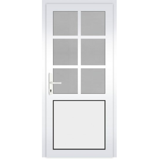 PVC Durys Therm Light White - 454.55eur. PVC lauko durys THERM LIGHT, www.doorshop.lt