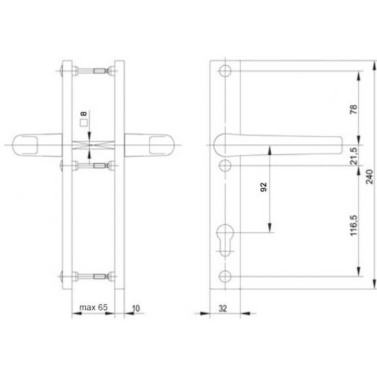 komplekte dvi lauko durų rankenos, kokybiškos