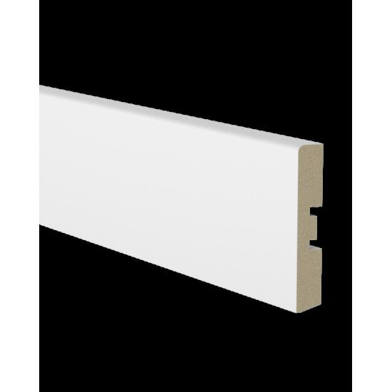 baltos spalvos grinjuostė, frezuota, 15mm x 70mm x 2400mm
