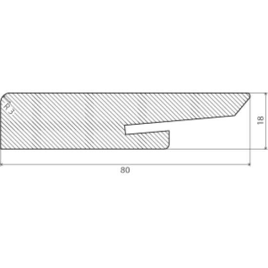 50mm MDF baltos grindjuostės 91065, 2600mm - 6.02eur. Grindjuostės, www.doorshop.lt