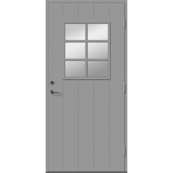 ALEXIA 6R su stiklu - dažytos lauko durys - 354.55eur. Skydinės Exterior durys, www.doorshop.lt
