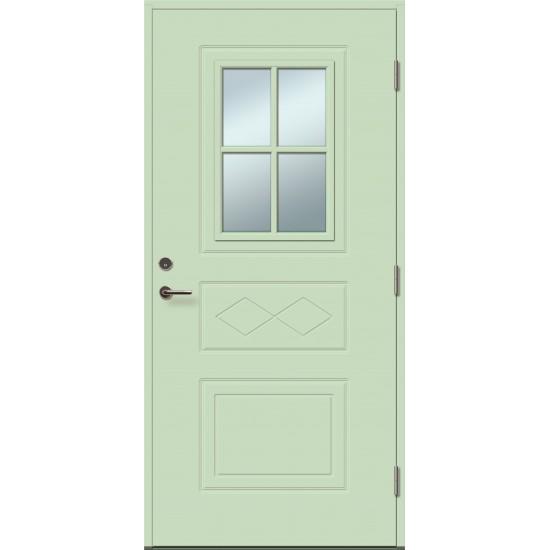 ENE 4R su stiklu - dažytos lauko durys - 354.55eur. Skydinės Exterior durys, www.doorshop.lt