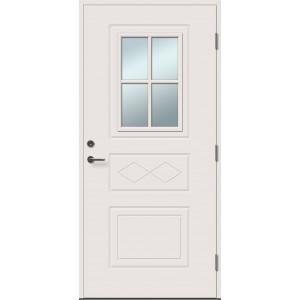 ENE 4R su stiklu - dažytos lauko durys