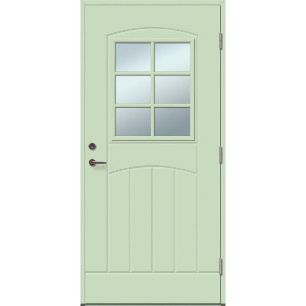 pastelinės žalios spalvos durys, su Spyna ASSA 565