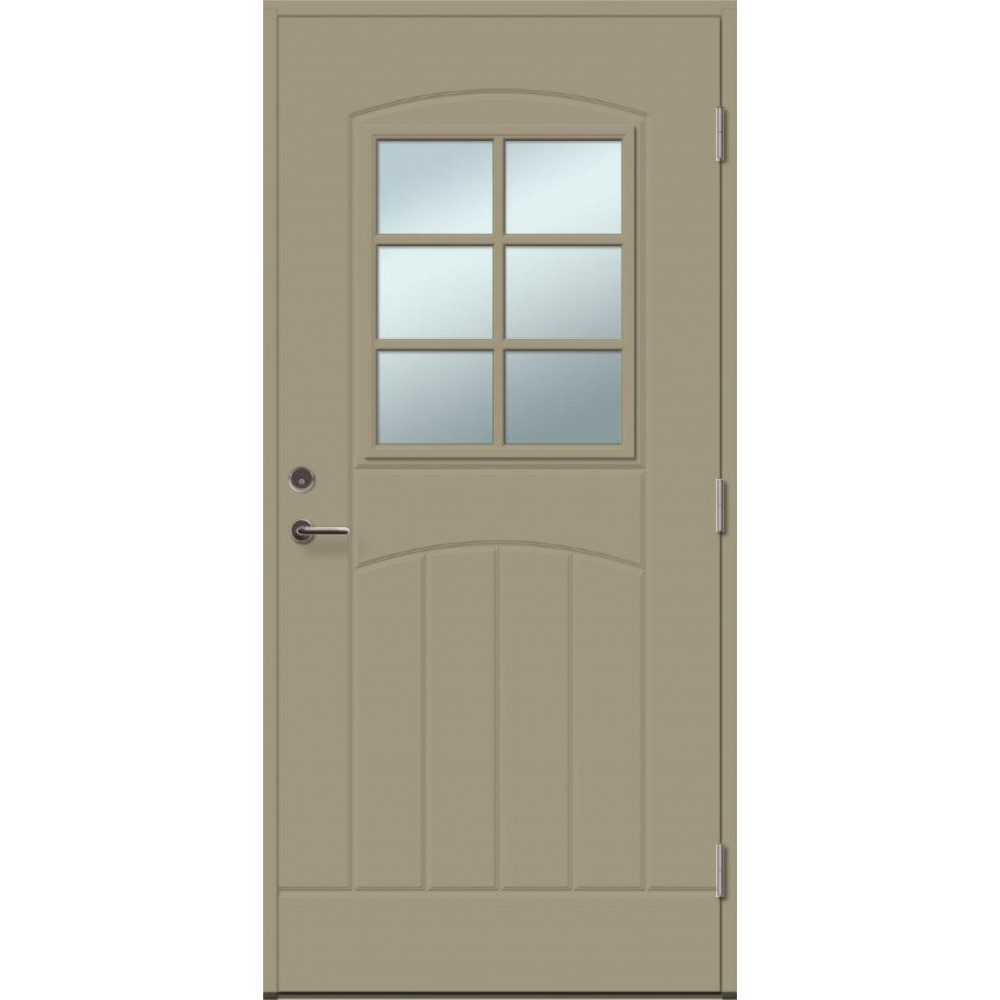 šviesiai pilkos spalvos durys, modernaus dizaino