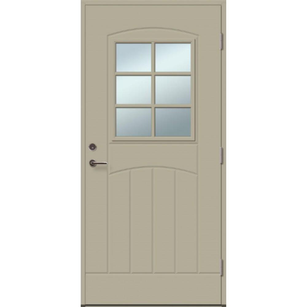 chaki spalvos durys, dažytos durys