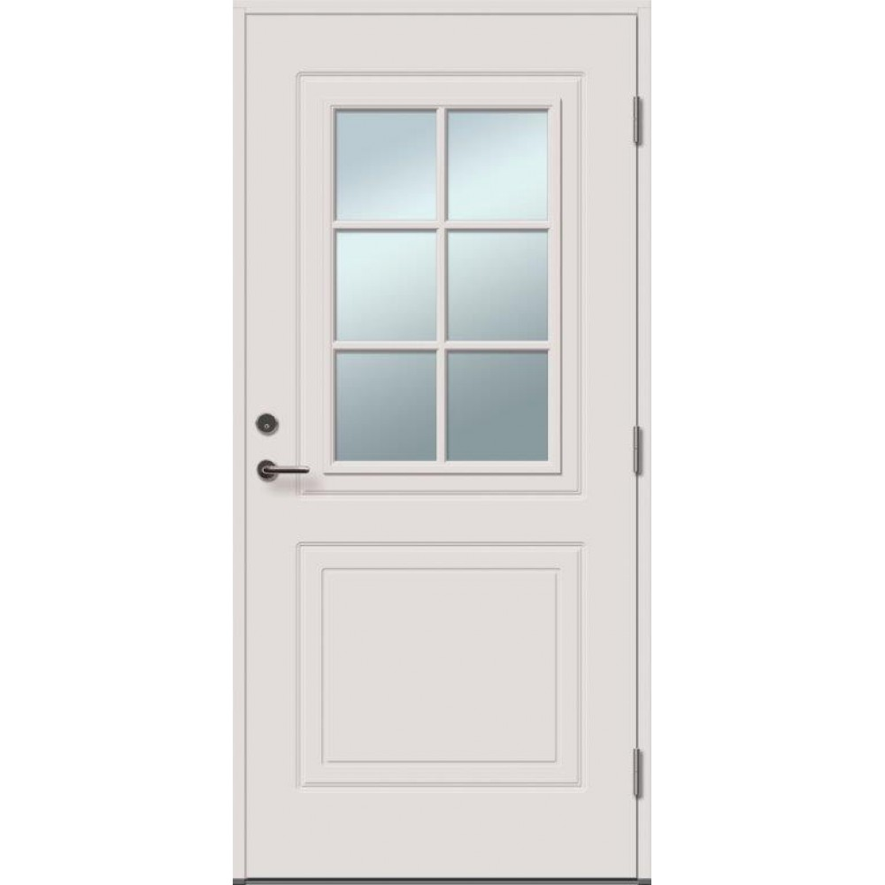 SOFIA 6R su stiklu - dažytos lauko durys, Lauko durys