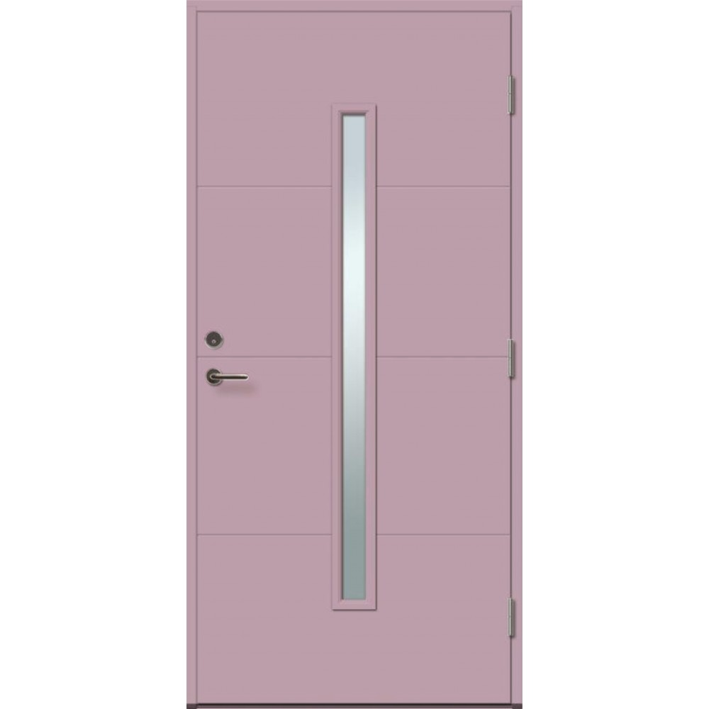 pastelinės violetinės spalvos durys, lauko