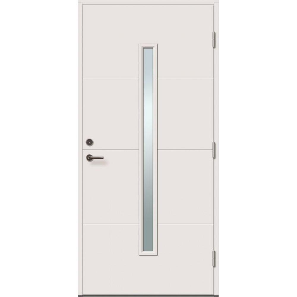 baltos spalvos klasikinio dizaino durys su ornamentais