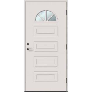 AMELIA 4RK su stiklu - dažytos lauko durys