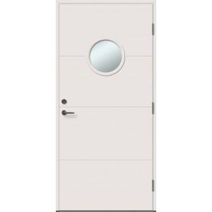 UTO 1R su stiklu - dažytos lauko durys