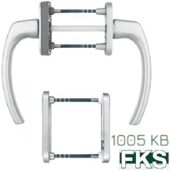 Balkono durų rankenų komplektas su rozete PZ cilindrui kodas 2.5085 - 16.53eur. Langų rankenos ir fiksatoriai, www.doorshop.lt