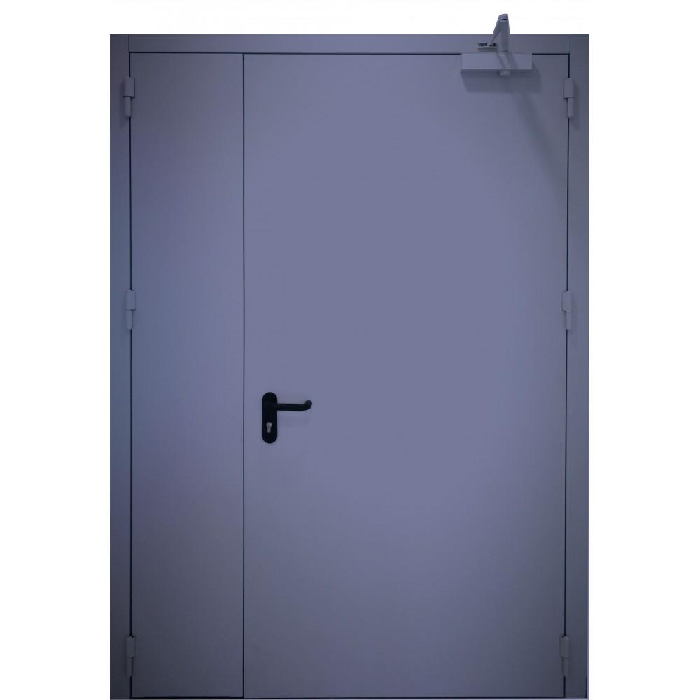 tamsiai mėlynos spalvos metalinės dvivėrės lauko durys PROTECTUS, NESTANDARTINIŲ MATMENŲ METALINES DURIS