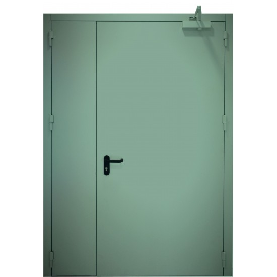 "METALINĖS DVIVĖRĖS LAUKO PRIEŠGAISRINĖS DURYS ""PROTECTUS"" EI60 - 727.27eur. Metalinės priešgaisrinės lauko durys, www.doorshop.lt"
