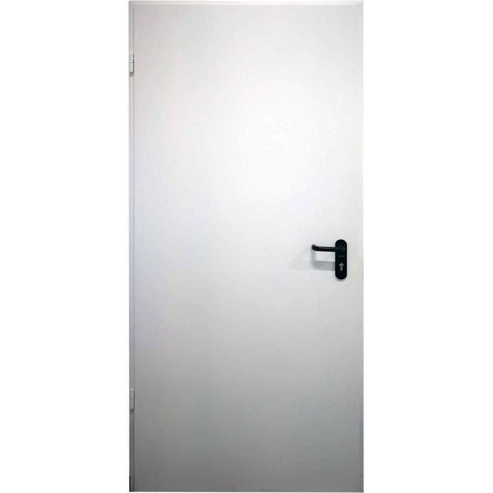 baltos spalvos metalinės lauko priešgaisrinės durys PROTECTUS, aukšto tankio akmens vata