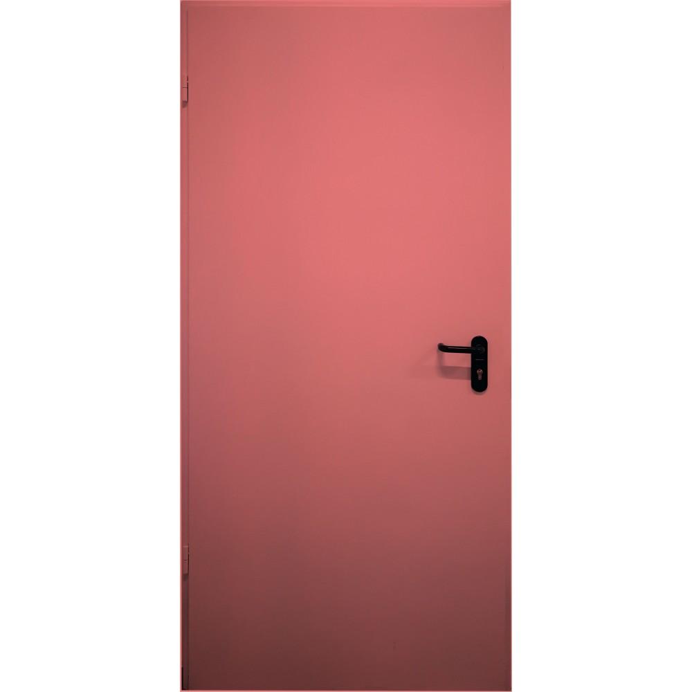 raudonos spalvos metalinės lauko priešgaisrinės durys PROTECTUS, staktos 100m