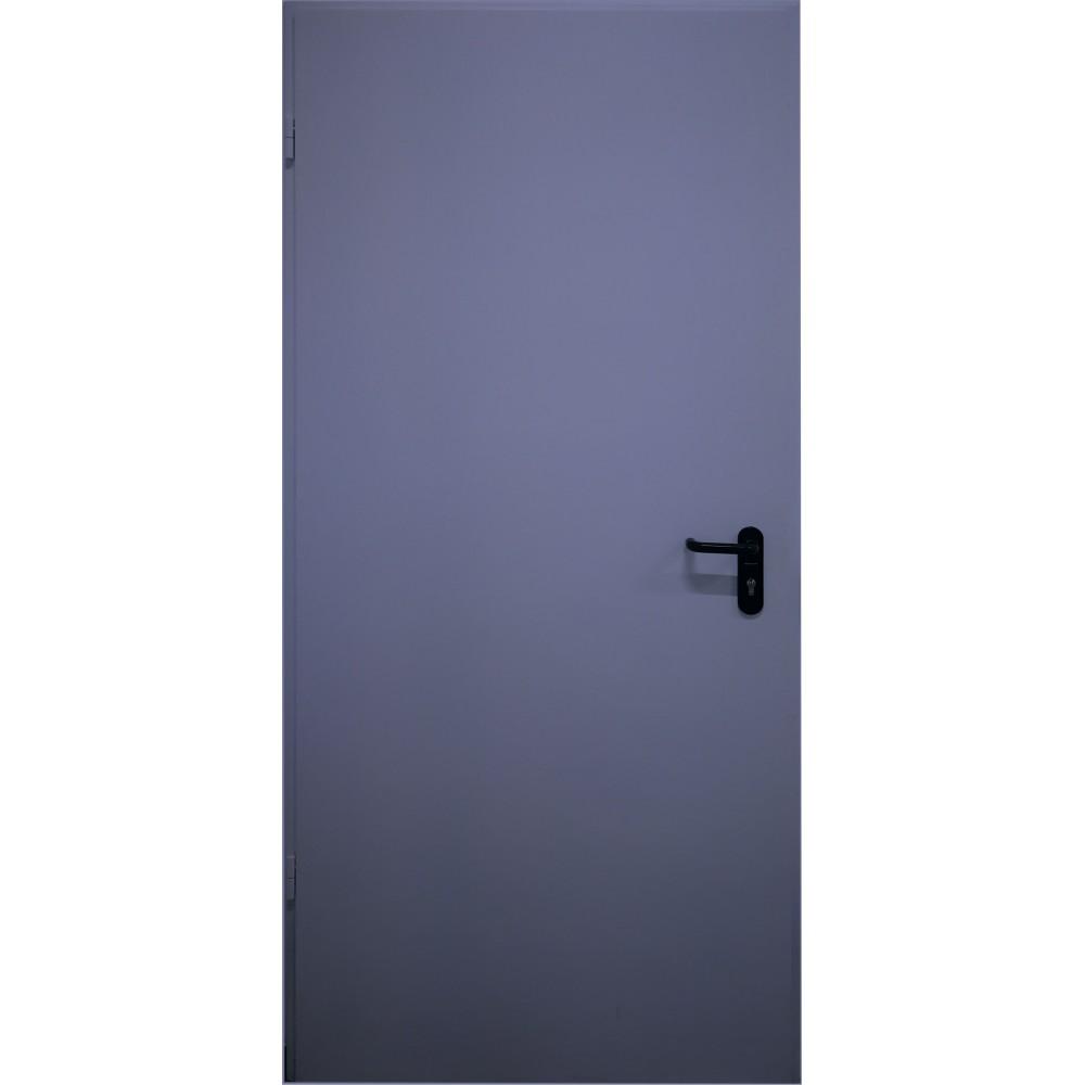 tamsiai mėlynos spalvos metalinės lauko priešgaisrinės durys PROTECTUS, NESTANDARTINIŲ MATMENŲ METALINES DURIS