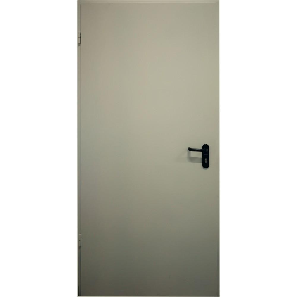 alyvuogių žalios spalvos metalinės lauko priešgaisrinės durys PROTECTUS, garso izoliacijos rodiklis – 40dB