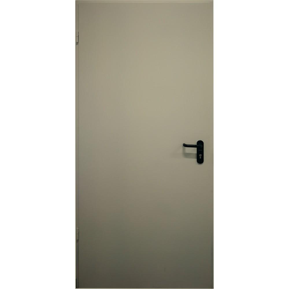 chaki spalvos metalinės lauko priešgaisrinės durys PROTECTUS, sandarumo dūmams klasė Sa, Sm
