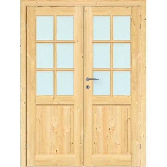 Finland Pine Double - 329.75eur. Skandinaviško tipo dviverės durys, www.doorshop.lt
