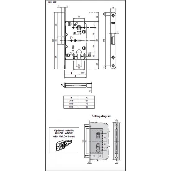 Vidaus durų AGB spyna EVO PZ 85 mm OCS - 9.92eur. AGB Spynos, www.doorshop.lt