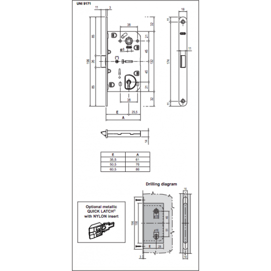 Vidaus durų AGB spyna EVO BB 90mm OCS - 8.26eur. AGB Spynos, www.doorshop.lt