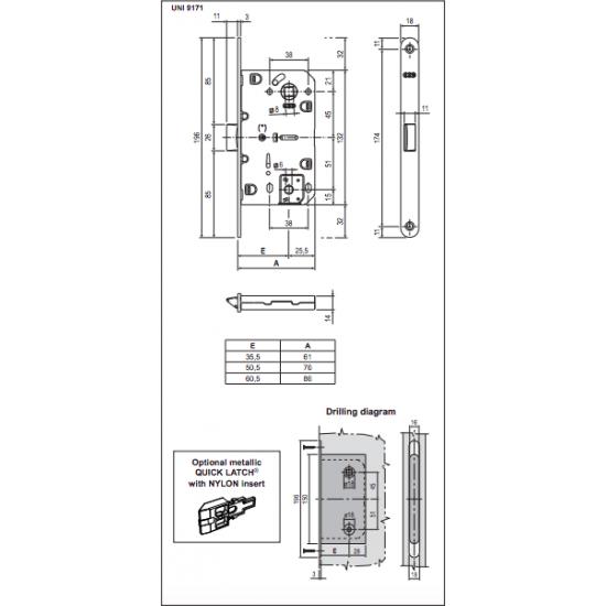 Vidaus durų AGB spyna EVO WC 96mm ruda - 8.26eur. AGB Spynos, www.doorshop.lt