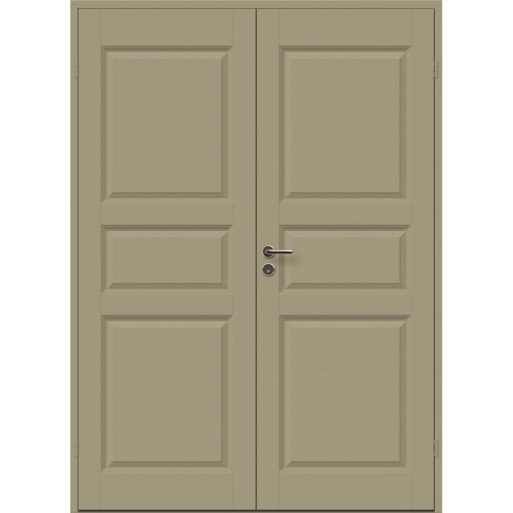 žalios spalvos durys CASPIAN, su spyna