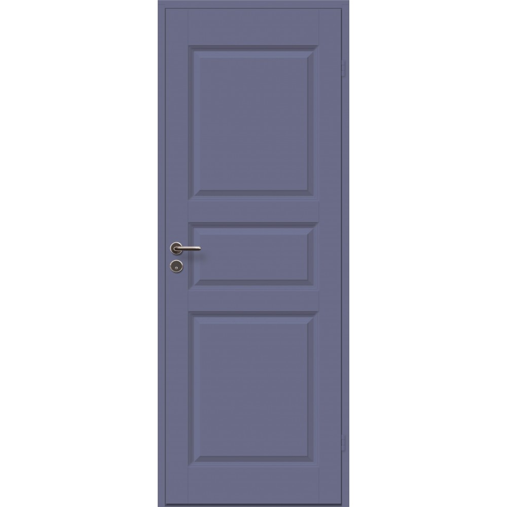 tamsiai violetinės spalvos durys CASPIAN, su klijuotos pušies stakta