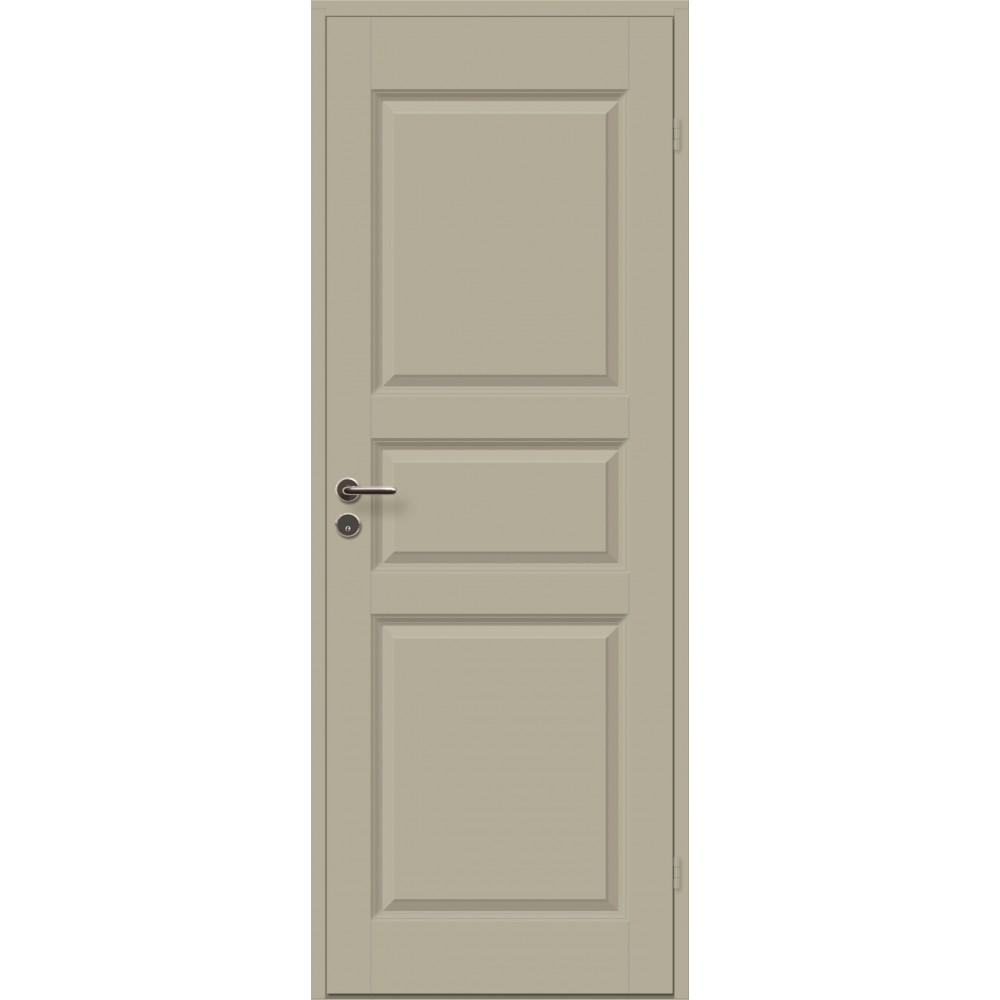 geltonai pilkos spalvos durys CASPIAN, su rankena
