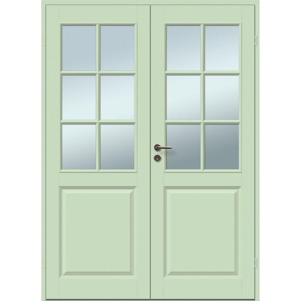 pastelinės žalios spalvos durys CASPIAN, šildomom patalpom