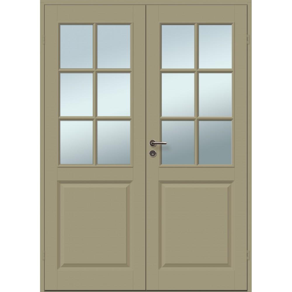 chaki spalvos durys CASPIAN, klasikinio dizaino durys