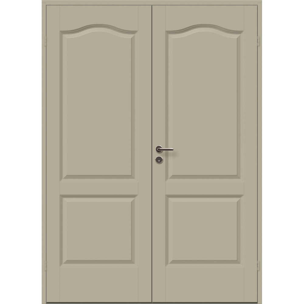 geltonai pilkos spalvos durys CASPIAN, su ornamentais