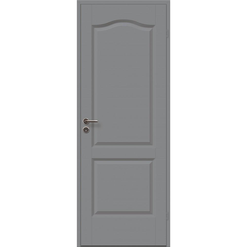 tamsiai pilkos spalvos medinės durys cremona, 40 mm storio varčia