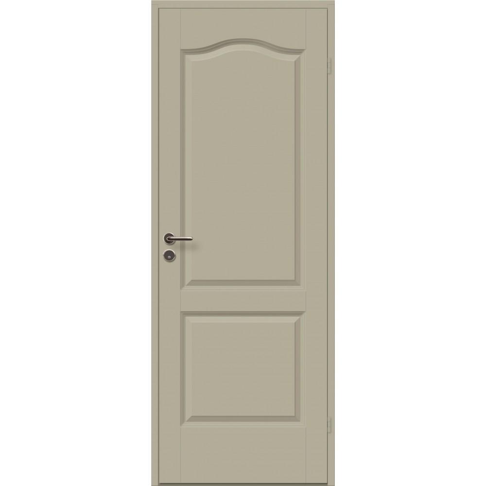 kreminės spalvos medinės durys cremona, slenkstis Kietmedis, lakuotas