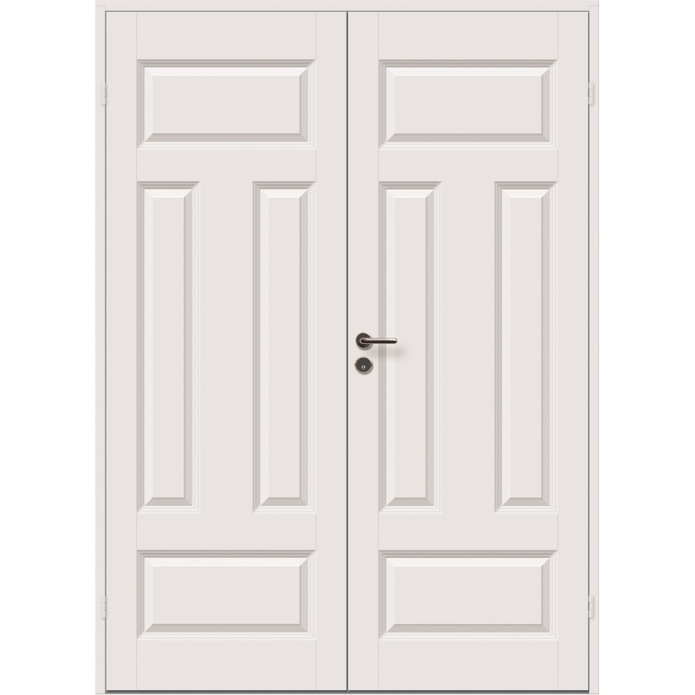 baltos spalvos dviejų durų durys JARI dekoruotos ornamentais