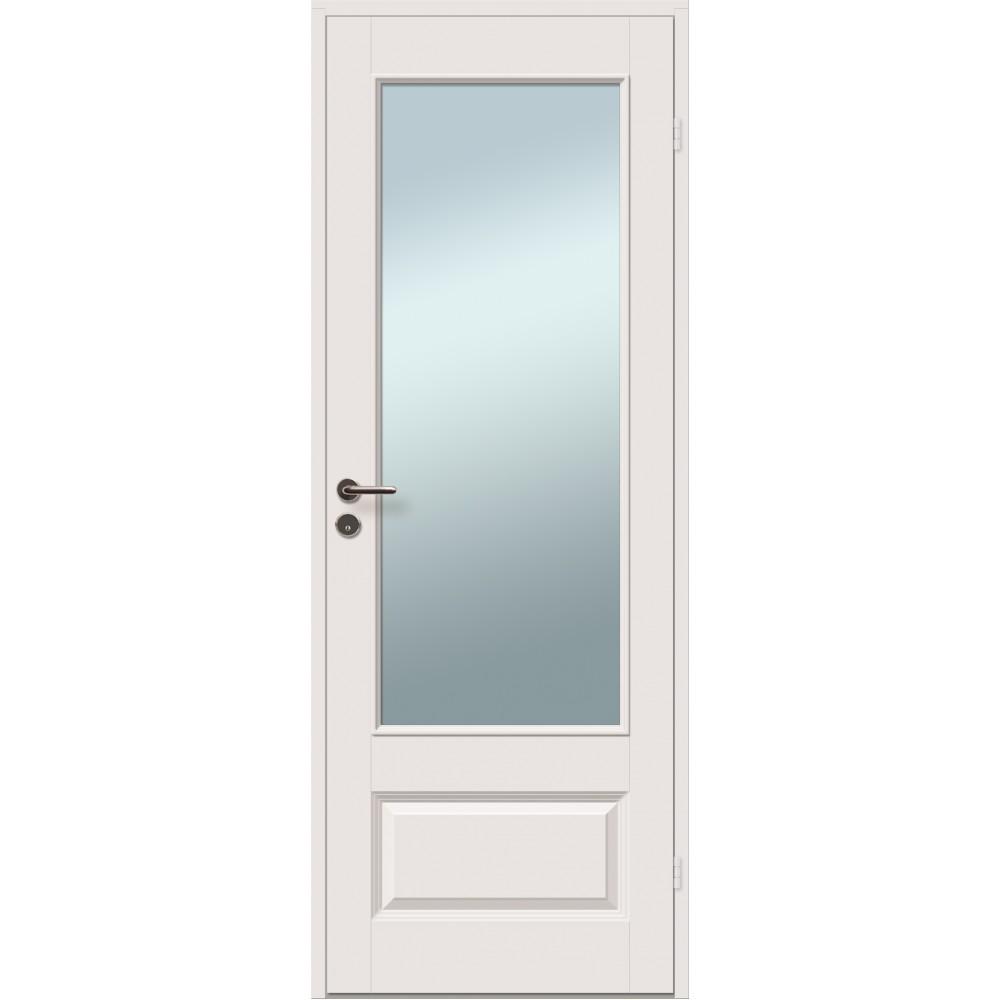 baltos spalvos durys JARI su stiklu