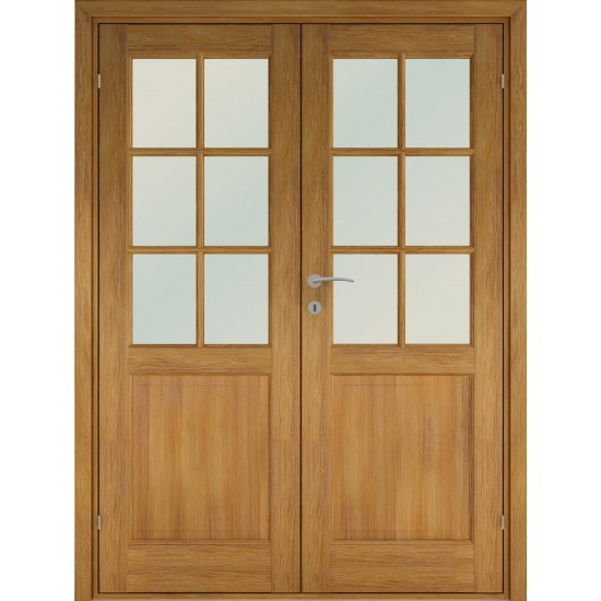 Finland Oak Double - 722.31eur. Skandinaviško tipo dviverės durys, www.doorshop.lt