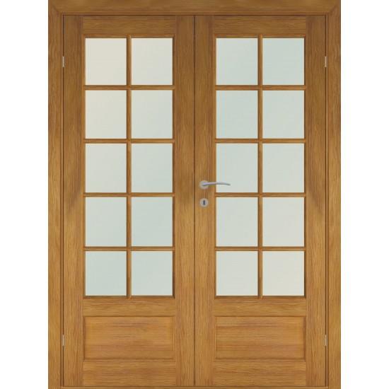 medžio spalvos skandinaviško tipo dviverės durys FINLAND OAK DOUBLE, kokybiškos