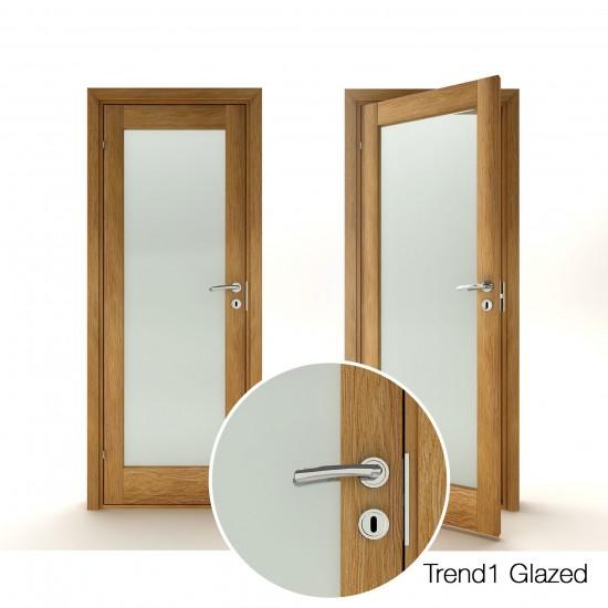 Trend 1 Oak Glazed - 330.58eur. Skandinaviško tipo, www.doorshop.lt