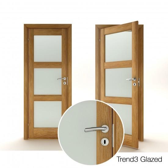 Trend 3 Oak Glazed - 330.58eur. Skandinaviško tipo, www.doorshop.lt